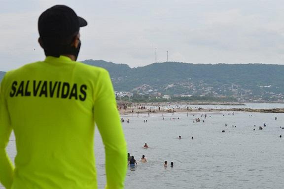 Playas de Puerto Colombia después de varios meses de estar cerradas, recibieron a los visitantes