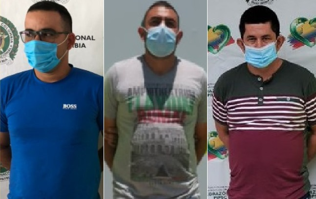 Con apoyo del FBI, capturan a tres presuntos integrantes del ELN pedidos en extradición por Estados Unidos por el delito de narcotráfico