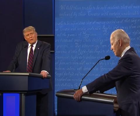 Los claros de Donald Trump, y los oscuros de Joe Biden este martes en el primer debate televisivo por la Presidencia de Estados Unidos, que Telemundo contabilizó en 66% para Trump, y 34% para Biden