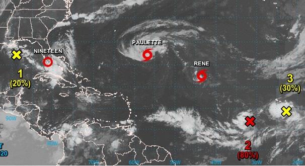 Tres fenómenos se mueven en el Atlántico amenazando las islas, golfo de México y costas de Estados Unidos