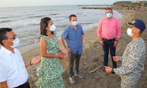 Alcaldes de la zona costera del Atlántico, la DIMAR y Gobernación, preparan reapertura de playas en el Departamento