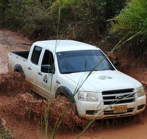 Incineran vehículo en que se movilizaba Comisión de la ONU y Defensoría del Pueblo, en límites de Caquetá y Meta.