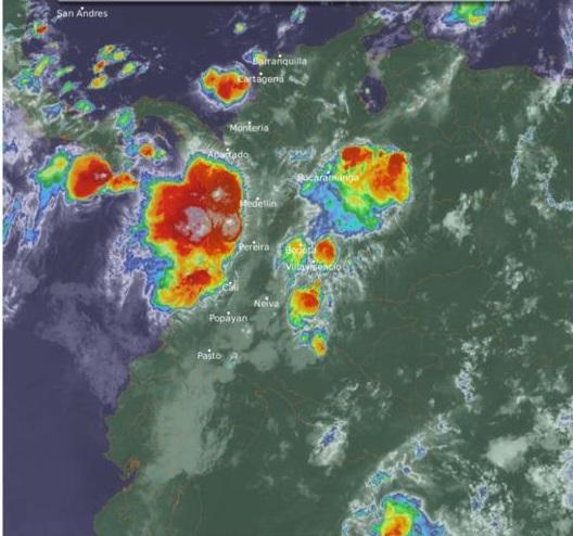 Coletazos del huracán Delta y Ondas Tropicales del Este causantes de lluvias torrenciales en Colombia, especialmente en la Costa