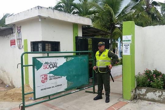 Con 180 uniformados de la Policía dispositivos y medidas de seguridad se busca garantizar el normal desarrollo de la jornada electoral atípica en Repelón este domingo