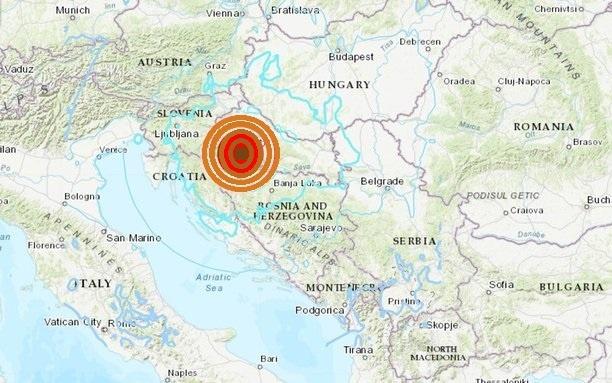 Terremoto superior a los 6.2 en la escala de Richter, sacude a Croacia y desaparece medio pueblo, dijo el alcalde de Petrinja, epicentro del movimiento telúrico