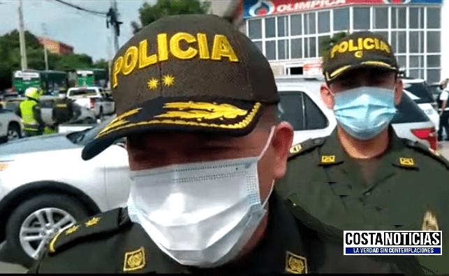 Intento de atraco a un carro de valores un delincuente fue dado de baja por el personal de seguridad en Puerto Colombia