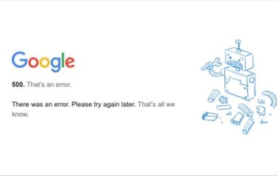 Google asegura que no fue un Ciberataque la caída generalizada de todas sus plataformas este lunes
