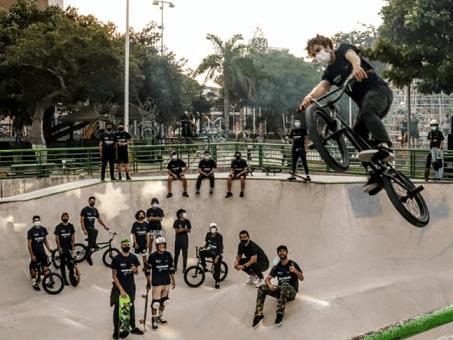 Gran descarga de adrenalina con el deporte extremo en exhibición en el Parque Venezuela en Barranquilla
