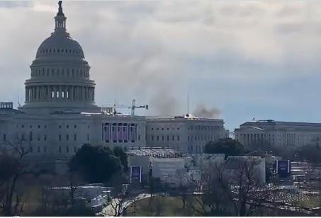 Falsa alarma en medio de la histería por los preparativos de un gobierno que se presume asumiría el 20 enero en los Estados Unidos
