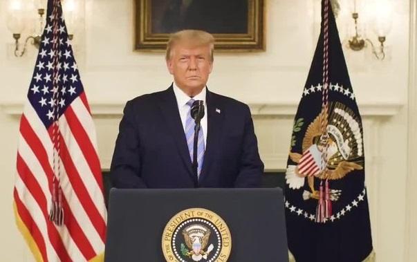 Trump No asistirá a un evento con Joe Biden. No lo reconoce sin embargo dijo que se centrará en la transición. También condenó los disturbios en el Capitolio