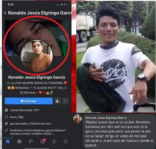 Justicia de Perú tras la pista de los criminales que le quitaron la vida a un joven tirándolo desde un puente en Colombia